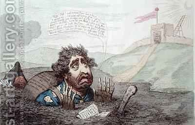 The Slough of Despond by James Gillray - Reproduction Oil Painting