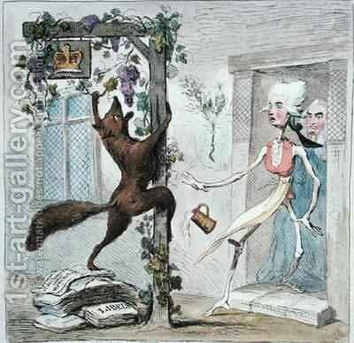 Theres more ways than one or Coalition Expedients by James Gillray - Reproduction Oil Painting