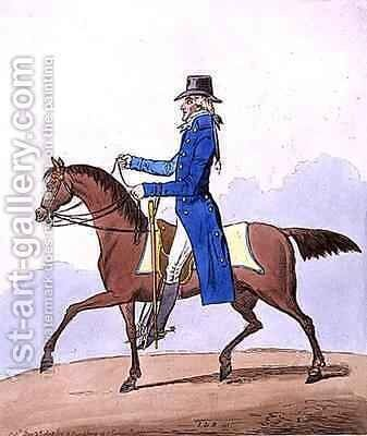 Equestrian Elegance or A Noble Scot metamorphosed by James Gillray - Reproduction Oil Painting