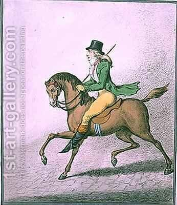 How to Ride with Elegance thro the Streets by James Gillray - Reproduction Oil Painting