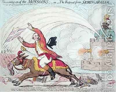 The Coming of the Monsoons or The Retreat from Seringapatam by James Gillray - Reproduction Oil Painting