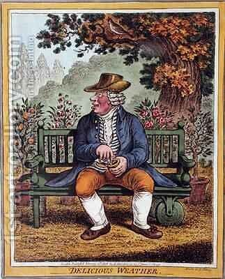 Delicious Weather by James Gillray - Reproduction Oil Painting