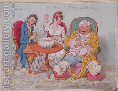 Punch Cures the Gout the Colic and the Tisic 2 by James Gillray - Reproduction Oil Painting