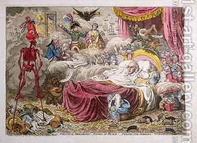 Political Dreamings Visions of Peace Perspective Horrors by James Gillray - Reproduction Oil Painting