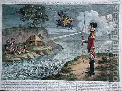 Lord Longbow the alarmist discovering the Miseries of Ireland by James Gillray - Reproduction Oil Painting