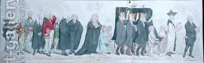 The Funeral Procession of Miss Regency by James Gillray - Reproduction Oil Painting