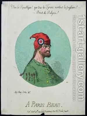 A Paris Beau by James Gillray - Reproduction Oil Painting