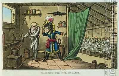 Napoleon Bonaparte 1769-1821 poisoning the sick at Jaffa by James Gillray - Reproduction Oil Painting