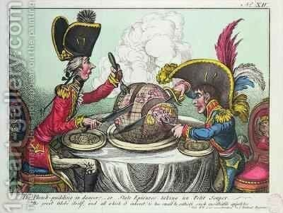 The Plum Pudding in Danger by James Gillray - Reproduction Oil Painting