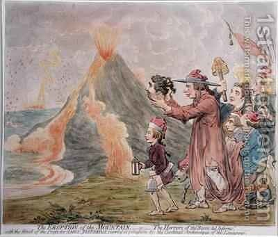 The Eruption of the Mountain or The Horrors of the Bocca del Inferno by James Gillray - Reproduction Oil Painting