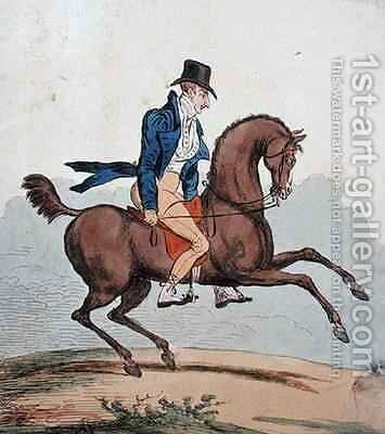 How to break in my own Horse by James Gillray - Reproduction Oil Painting