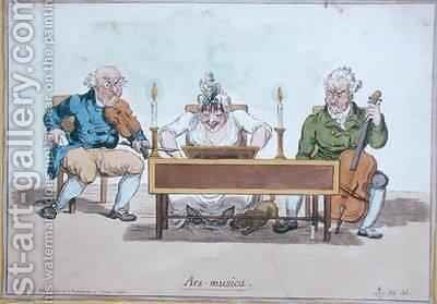 Ars Musica by James Gillray - Reproduction Oil Painting