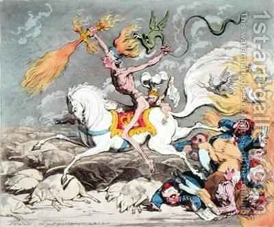 Presages of the Millennium 2 by James Gillray - Reproduction Oil Painting