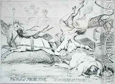 The Fall of Phaeton by James Gillray - Reproduction Oil Painting