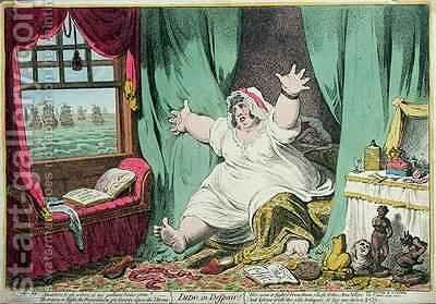 Dido in Despair by James Gillray - Reproduction Oil Painting