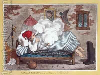German Luxury or Repos a lAllemand by James Gillray - Reproduction Oil Painting