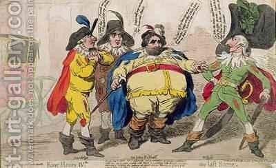 King Henry IV the Last Scene by James Gillray - Reproduction Oil Painting