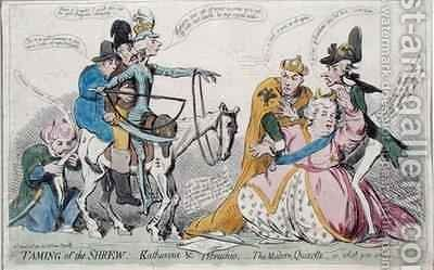 Taming of the Shrew Katherine and Petruchio or The Modern Quixote by James Gillray - Reproduction Oil Painting