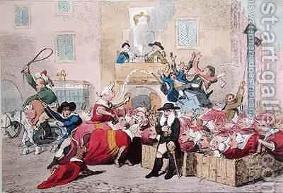 Market Day by James Gillray - Reproduction Oil Painting