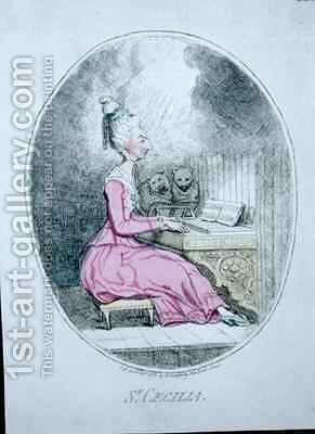 St Cecilia by James Gillray - Reproduction Oil Painting