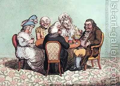 A Decent Story by James Gillray - Reproduction Oil Painting