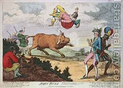 John Bull Triumphant 3 by James Gillray - Reproduction Oil Painting