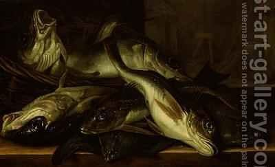 A Still Life of fish by Jacob Gillig - Reproduction Oil Painting