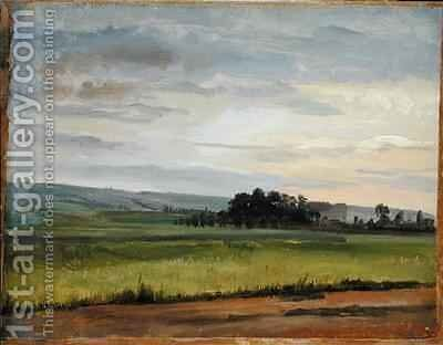 A Cornfield near Dresden by Christian Friedrich Gille - Reproduction Oil Painting