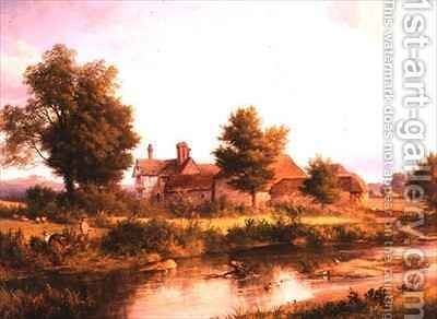 View of Unstead House near Bramley by Edmund Gill - Reproduction Oil Painting