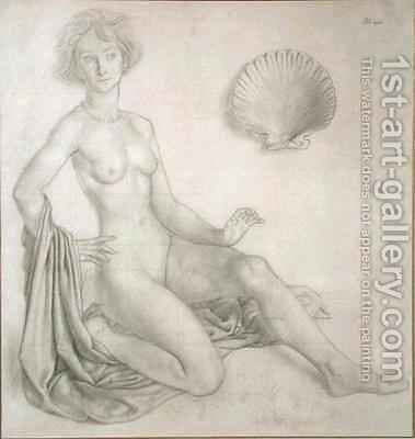 Study for Venus and Cupid by Colin Unwin Gill - Reproduction Oil Painting