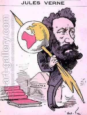 Caricature of Jules Verne 1828-1905 from Men of Today by Andre Gill - Reproduction Oil Painting