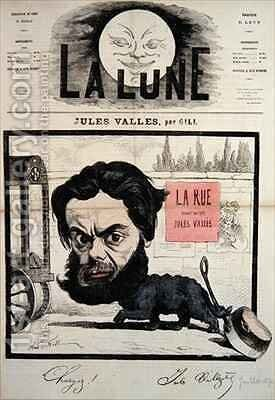 Caricature of Jules Valles cover illustration from La Lune by Andre Gill - Reproduction Oil Painting