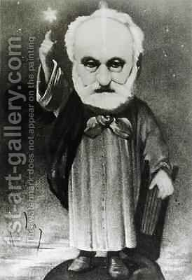 Caricature of Victor Hugo 1802-85 as a Magician by Andre Gill - Reproduction Oil Painting