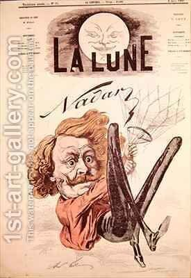 Front cover of La Lune magazine showing Nadar by Andre Gill - Reproduction Oil Painting