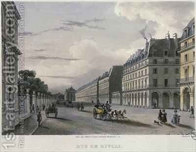 The Rue de Rivol by (after) Gilio, Carlo - Reproduction Oil Painting