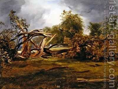 The Blasted Oak by James William Giles - Reproduction Oil Painting