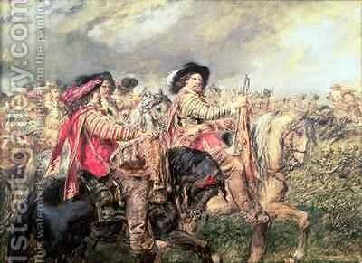 After the Battle of Naseby in 1645 by Sir John Gilbert - Reproduction Oil Painting