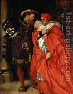 Ego et Rex Meus Henry VIII 1491-1547 and Cardinal Wolsey by Sir John Gilbert - Reproduction Oil Painting