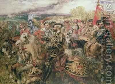 The Field of the Cloth of Gold by Sir John Gilbert - Reproduction Oil Painting
