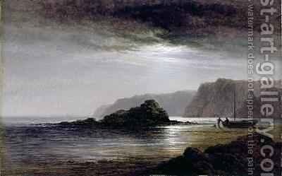 Coastal Landscape by Moonlight by Arthur Gilbert - Reproduction Oil Painting