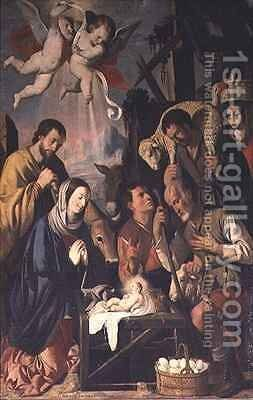 The Adoration of the Shepherds by Mateo Giarte - Reproduction Oil Painting