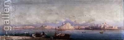 The Grand Harbour Valletta by Girolamo Gianni - Reproduction Oil Painting
