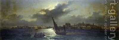 View from Malta off the Harbour by Girolamo Gianni - Reproduction Oil Painting
