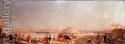 The Three Cities from Valletta Marina by Girolamo Gianni - Reproduction Oil Painting