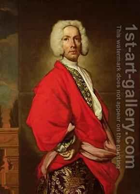 Count Galeatius Secco Suardo 1681-1733 by Giuseppe (Fra Vittore Galgario) Ghislandi - Reproduction Oil Painting