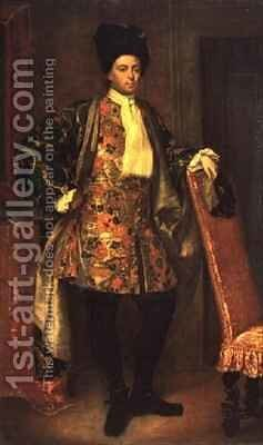 Portrait of Count Giovanni Battista Vailetti by Giuseppe (Fra Vittore Galgario) Ghislandi - Reproduction Oil Painting