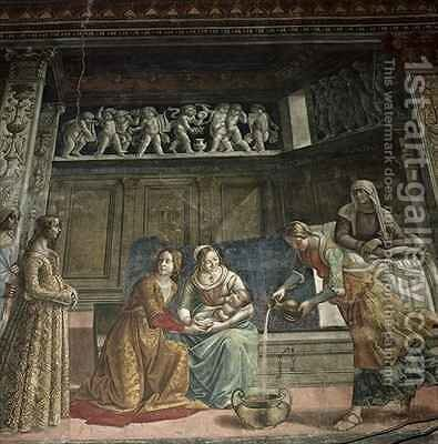 The Birth of the Virgin by Davide Ghirlandaio - Reproduction Oil Painting