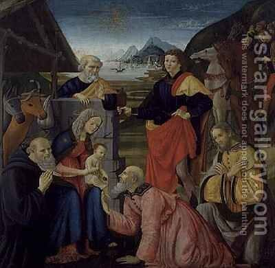 The Adoration of the Magi by Davide Ghirlandaio - Reproduction Oil Painting