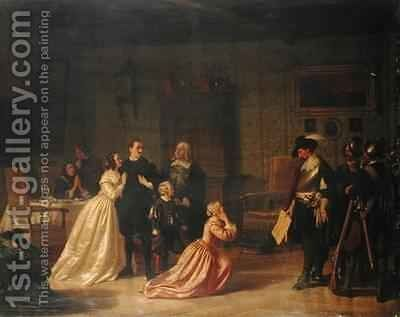 The Arrest of a Patrician During the Thirty Year War by Johann Geyer - Reproduction Oil Painting