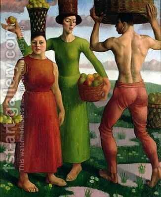 The Fruit Sorters by Mark Gertler - Reproduction Oil Painting